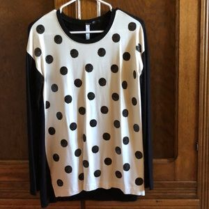 Cotton knit tunic with sequin dots